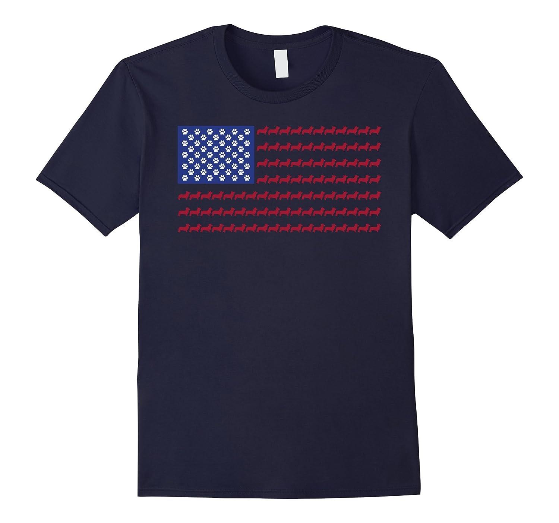 Corgi T-Shirt - Patriotic Flag 4th of July Dog Tee-PL