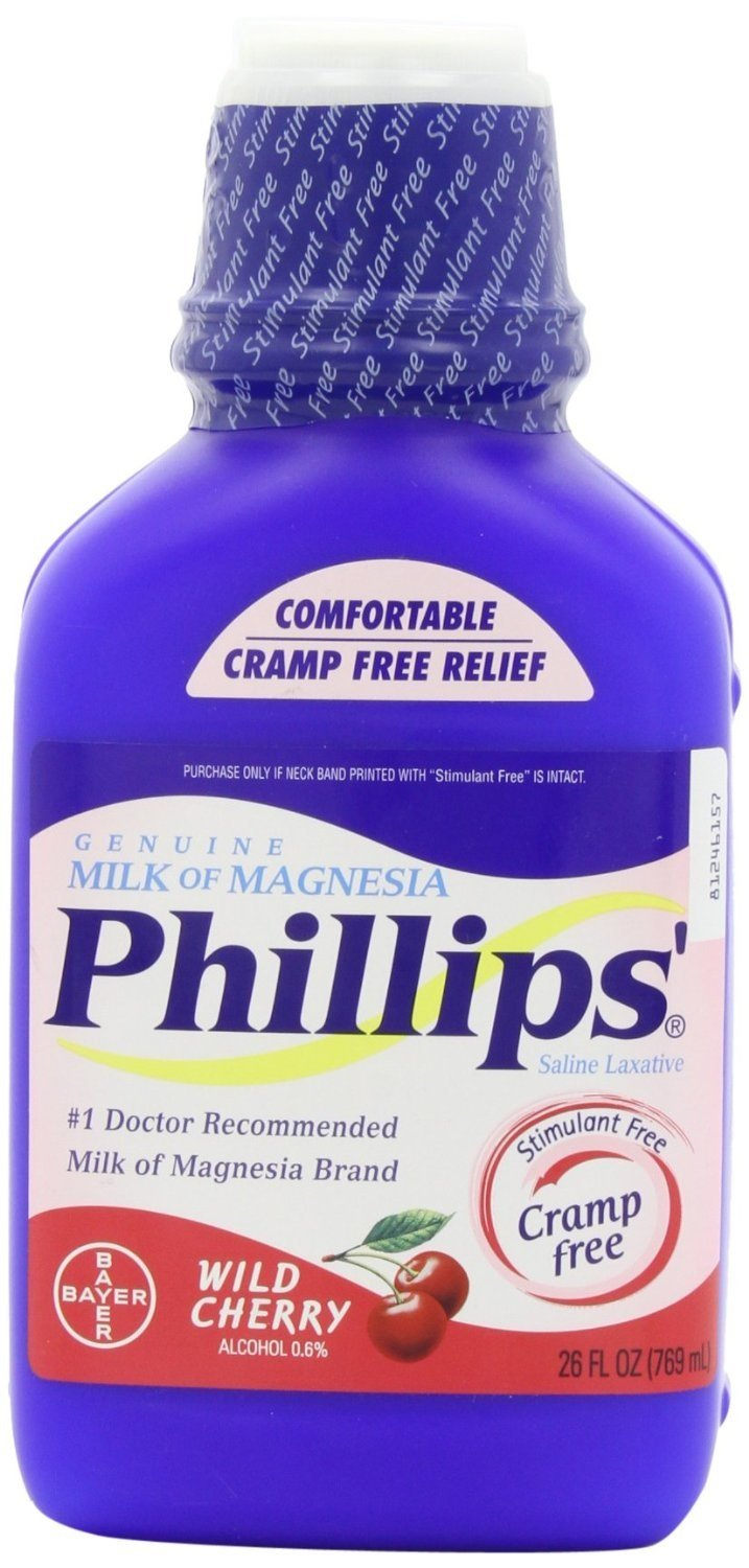 Amazon.com: Phillips Wild Cherry Milk of Magnesia Liquid, 26 Ounce Bottle (3 Pack): Health & Personal Care