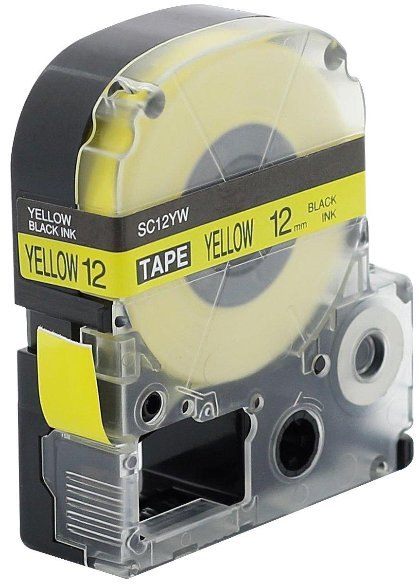 LC4WBN9 Schriftband für Epson LabelWorks LW-400 12mm schwarz auf weiß 1 komp