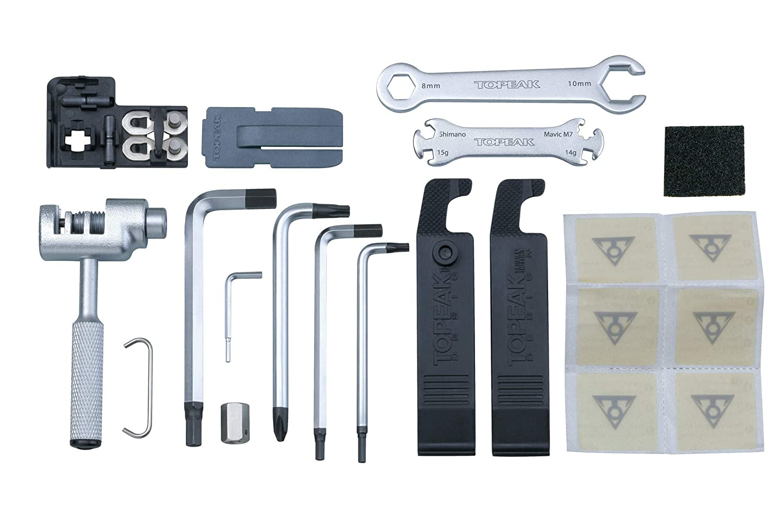 Caja de herramientas para bicicleta Topeak Survival Gear gris 2018