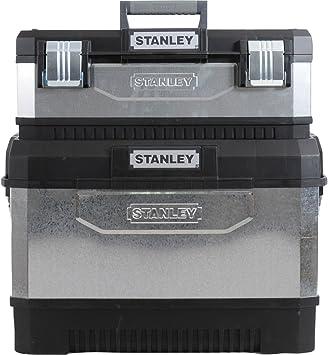 Advanced Stanley de Metal galvanizado Rolling centro de trabajo caja de herramientas con ruedas gris y negro 575 mm/58,42 cm [unidades 1] con Min 3 años Cleva garantía: Amazon.es: Bricolaje y herramientas