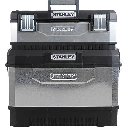 Advanced Stanley de Metal galvanizado Rolling centro de trabajo caja de herramientas con ruedas gris y