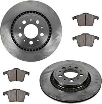 Front+Rear Rotors Ceramic Pads For 2003 2004 2005 2006 2007 2008 2009-2014 XC90