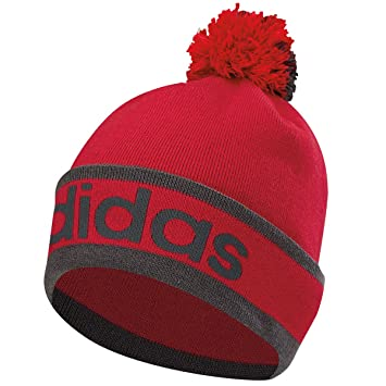 Adidas Golf Pom Pom Mens Beanie (Unity Pink Dark Grey Heather Ray ... c5d81c41c97