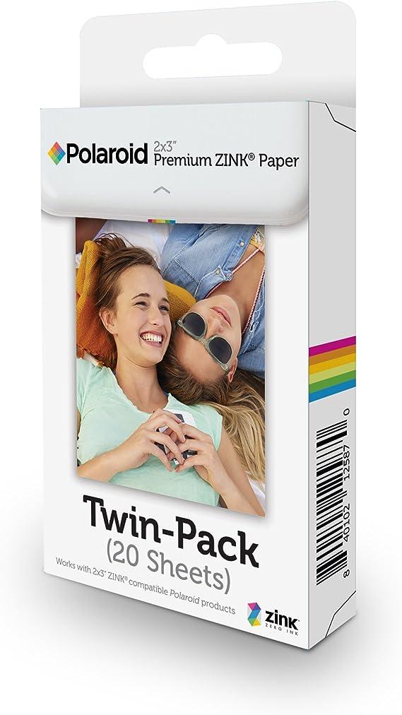 Polaroid 2x3ʺ Premium Zink Zero Photo Paper 20-Pack - Compatible with Polaroid Snap/SnapTouch Instant Print Digital Cameras & Polaroid Zip Mobile Photo Printer