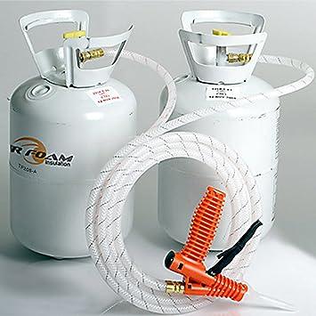 Tigre espuma Quick Cure 200 ft/BD Spray Kit de aislamiento de espuma: Amazon.es: Jardín