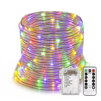 ProGreen Guirnalad de Luces, Manguera de Luces, 14m 120 LED, 8 Modos Resistente