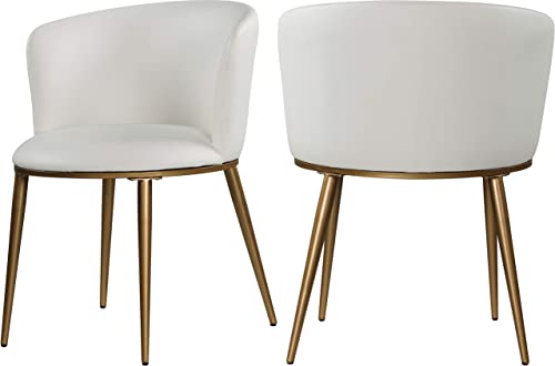 Meridian Furniture Skylar Collection Modern   Contemporary Upholstered Dining Chair