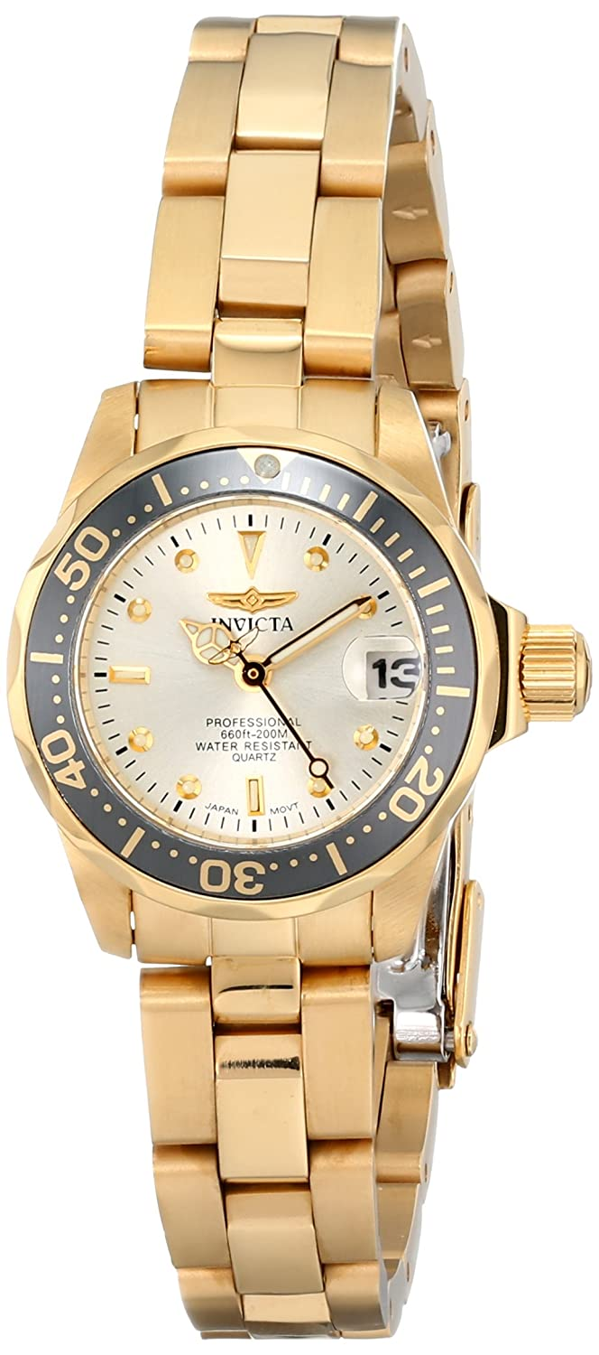 Amazon.com: Invicta Womens INVICTA-14987 Pro Diver Analog Display Japanese Quartz Gold Watch: Invicta: Watches