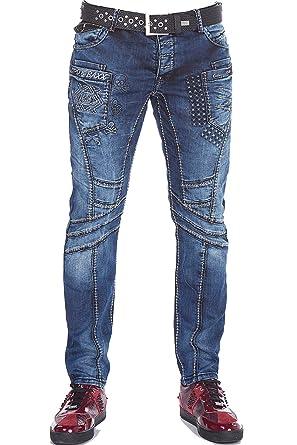 CIPO&BAXX Herren Herren Jeans mit Kontrastnähten