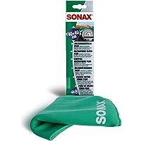 SONAX SN 1837651 MicrofaserTuch Innen PLUS Innen & Scheibe (1 Stück) extrem fein ohne Streifen, Schlieren und Fusseln zu…