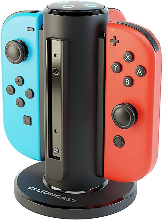 Lioncast Joy-con Base de Cargador Cuadruple para Nintendo Switch ...