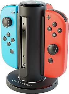 Lioncast Joy-con Base de Cargador Cuadruple para Nintendo Switch ...