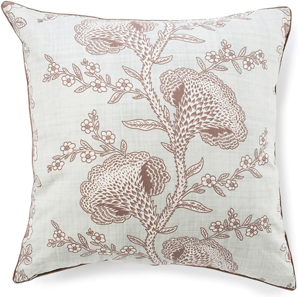 Jiti Geisha Throw Pillow, Cotton, 24-Inch Square, Powder Blue