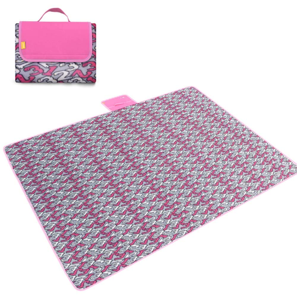 DADAO Picnic Mat Waterproof Washable,Extra Large - Family Size, Sand-Proof, Compact and Foldable Mat, Best for Picnic and Travel,3,200x200cm