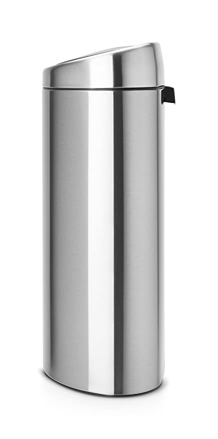 Brabantia Touch Bin Ovaal.Brabantia Recycling Twin Touch Bin With Plastic Buckets 10 L And 23 L Matt Steel