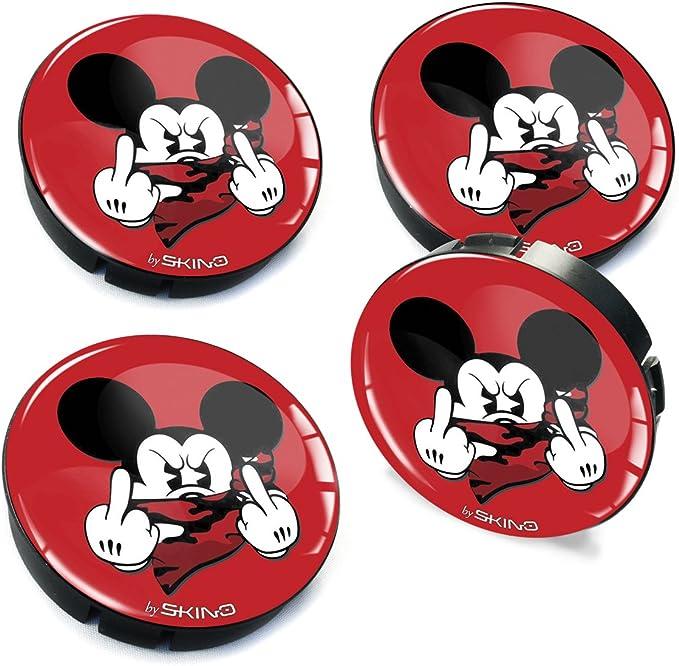Skinoeu 4 X 60mm Silikon Nabenkappen Kappen Rot Mittelfinger Maus Mouse Felgendeckel Radkappen Radnabendeckel Nabendeckel Auto Tuning C 35 Auto