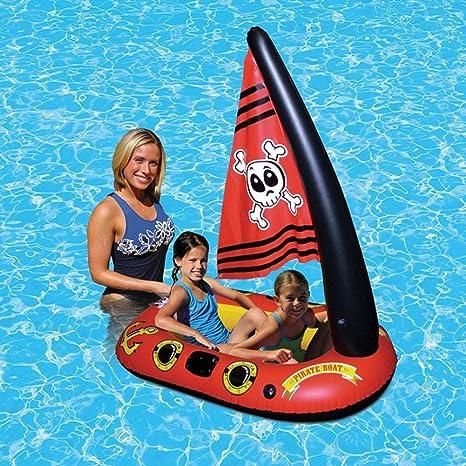 Flotador hinchable para piscina de barco pirata, juguete flotador ...