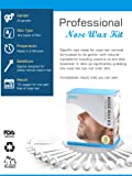 12 Counts 50 pcs Nose Wax Kit for Nose Hair