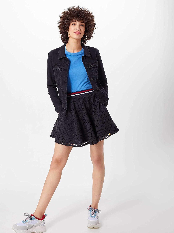 Superdry Damen Teagan Schiffli Skirt Rock Navy