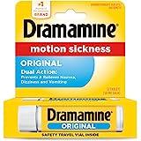 Dramamine Motion Sickness Original, Travel Vial, 12 Count