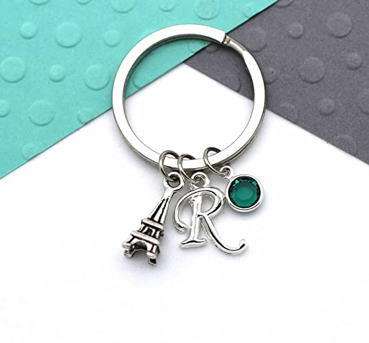 611f643676 Image Unavailable. Image not available for. Colour: Personalised Eiffel  Tower Keychain, Custom Paris Keyring ...