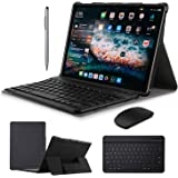 2 in 1 Tablets 10 Inch, Android 9.0 Tablet PC with Wireless Keyboard Case, 4GB RAM 64GB ROM/128GB Computer Tablets, Quad Core