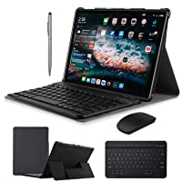 2 in 1 Tablets 10 Inch, Android 9.0 Tablet PC with Wireless Keyboard Case, 4GB RAM...