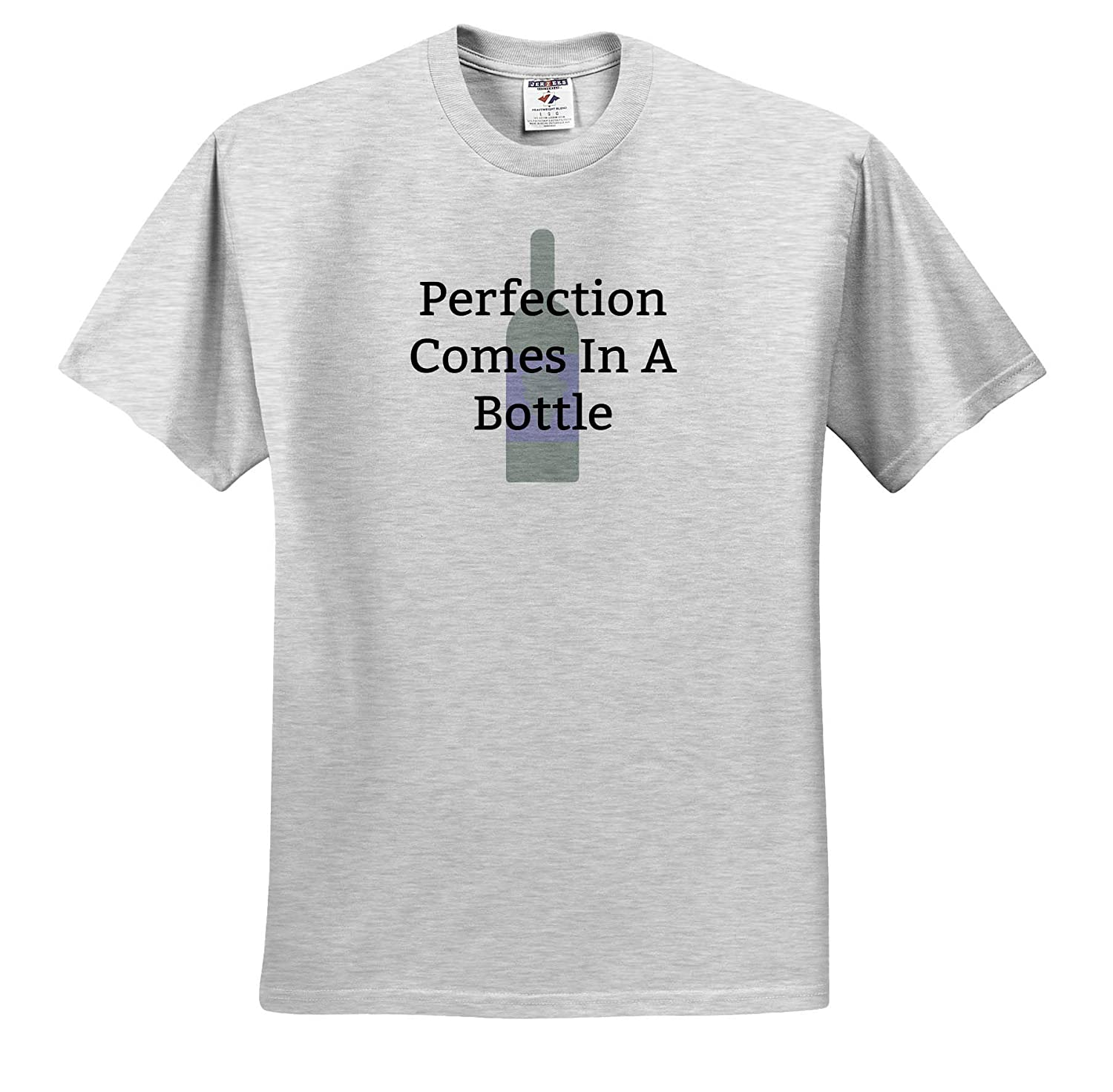 Image of Perfection Comes in A Bottle 3dRose Carrie Merchant Quote T-Shirts