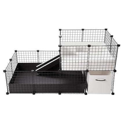 CagesCubes - Jaula CyC Elegance Black and White (Base 2X3 + Loft ...