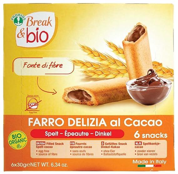 Probios Break&Bio Galletas de Espelta Rellenas de Cacao - 10 paquetes
