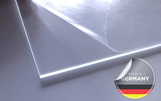 10 x 10 cm Kunststoffplattenonline.de 5mm im Zuschnitt Acrylgas XT Platten//Acrylglasplatten XT 100 x 100 mm Transparent