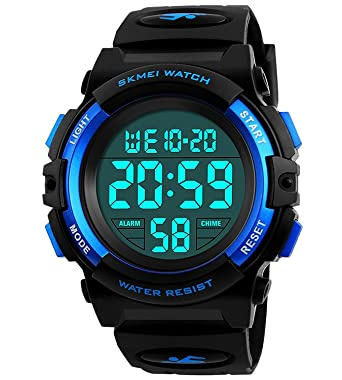 Boys Watches For Kids Age 5 13 Waterproof Sports Digital Wrist Watches With Date Day Alarm Chime Stopwatch
