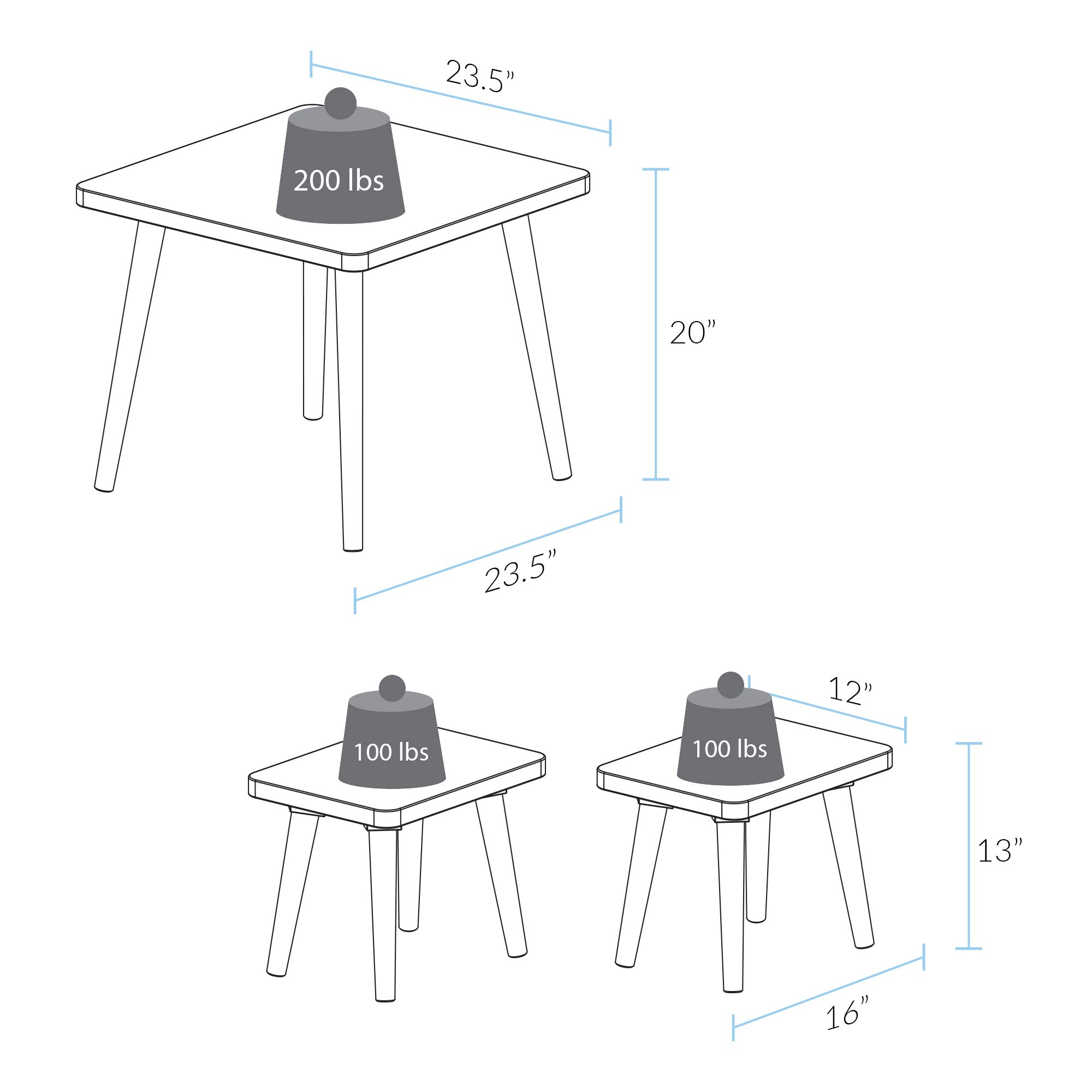 American Trails 560-31 The Easel Table & Chair Set Kid Table, Two-Tone (White, Natural) by American Trails (Image #4)