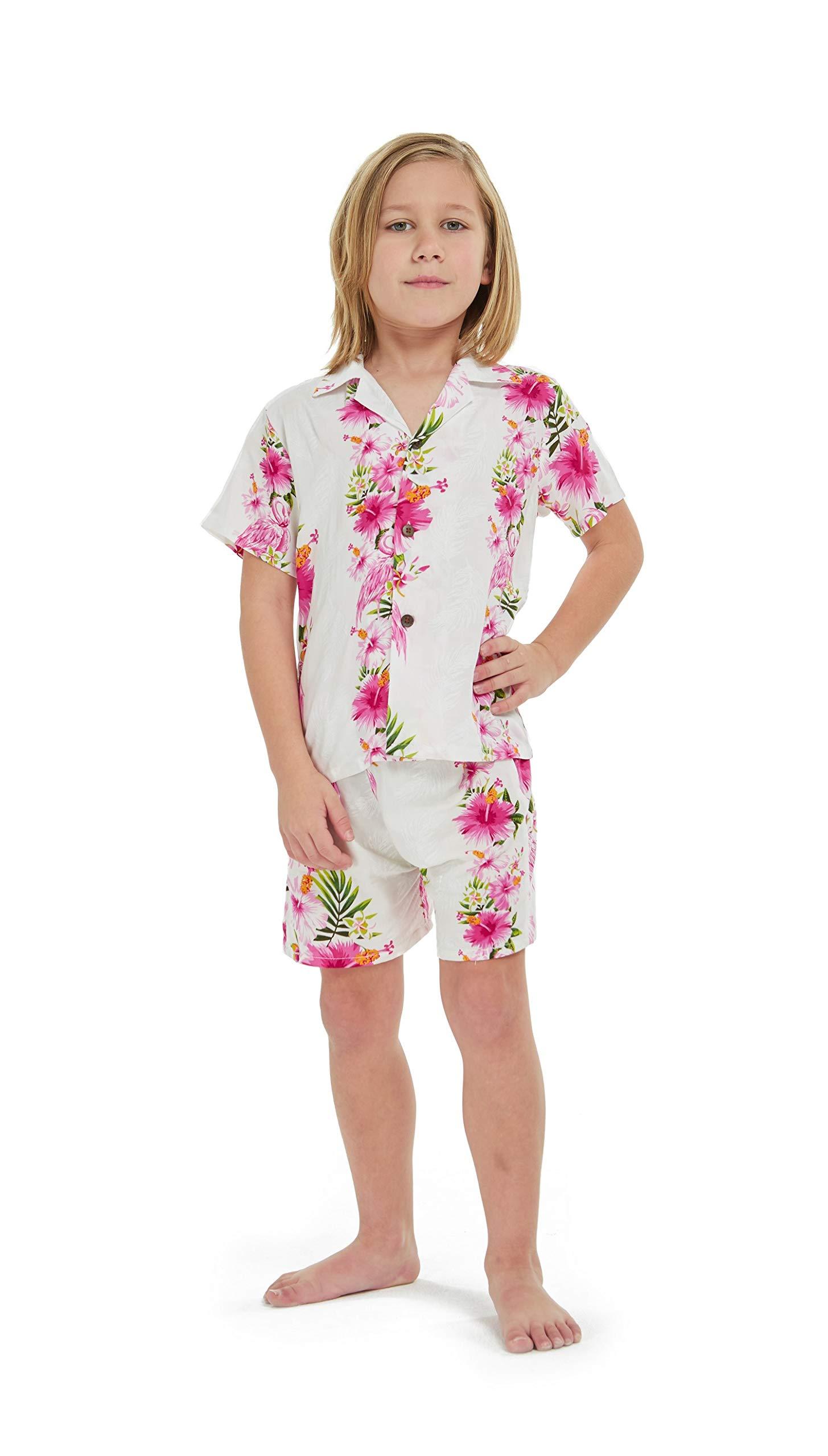 Hawaii Hangover Boy Young Adult Aloha Luau Shirt in Pink Hibiscus Vine 10 Year Old by Hawaii Hangover (Image #4)