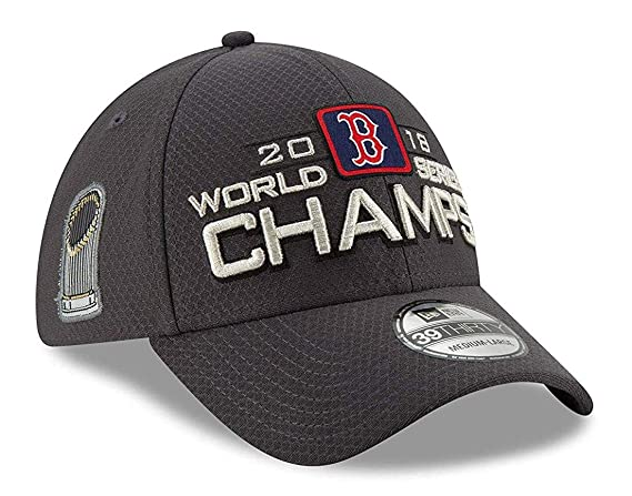 Amazon.com : New Era Boston Red Sox 39THIRTY 2018 World Series Champion Mens Locker Room Hat : Sports & Outdoors