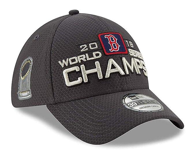 New Era Boston Red Sox 39THIRTY 2018 World Series Champion Mens Locker Room Hat