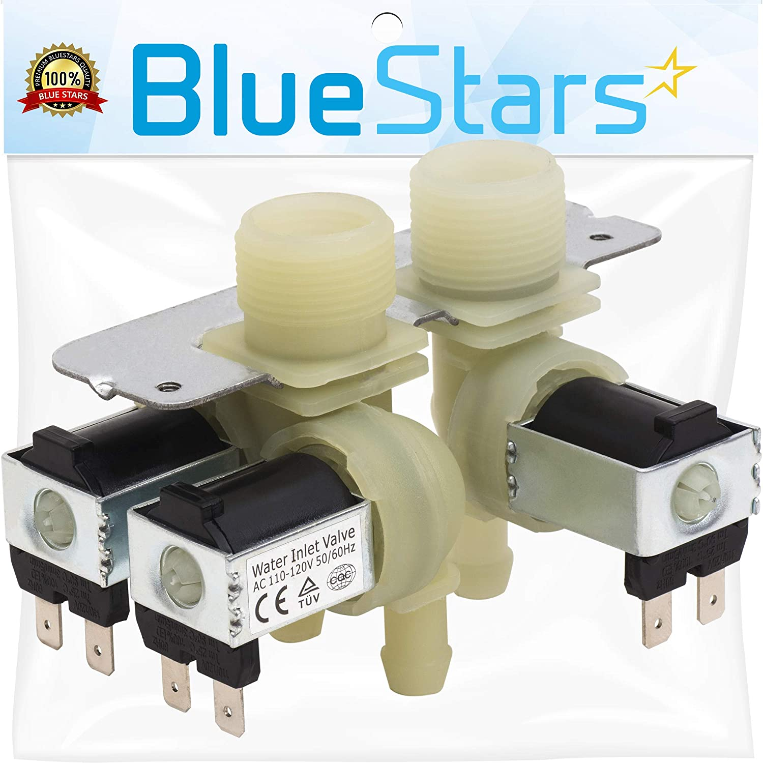 Ultra Durable WH13X10029 Washer Water Inlet Valve Replacement Part by Blue Stars - Exact Fit for GE Washer - Replaces 1475762 AP4303282 PS1482392