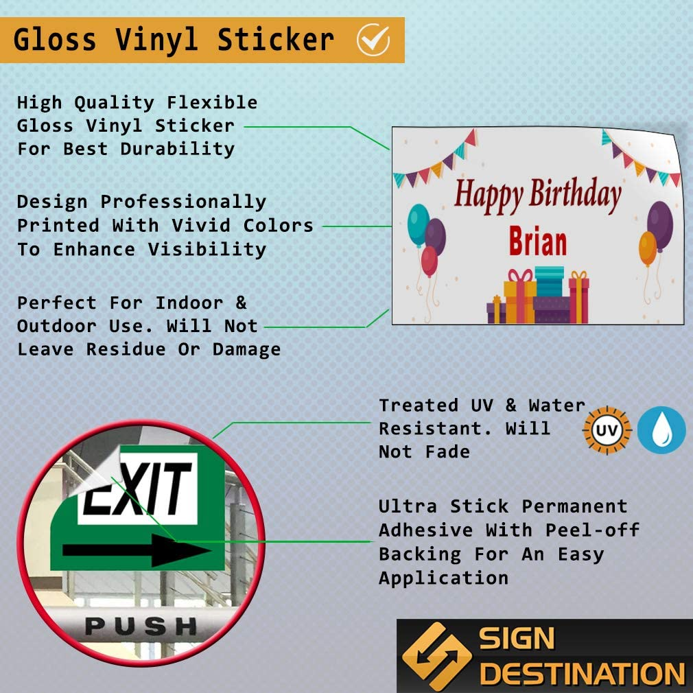 Custom Door Decals Vinyl Stickers Multiple Sizes Happy Birthday Boy A Lifestyle Happy Birthday Signs Outdoor Luggage /& Bumper Stickers for Cars White 28X20Inches Set of 10