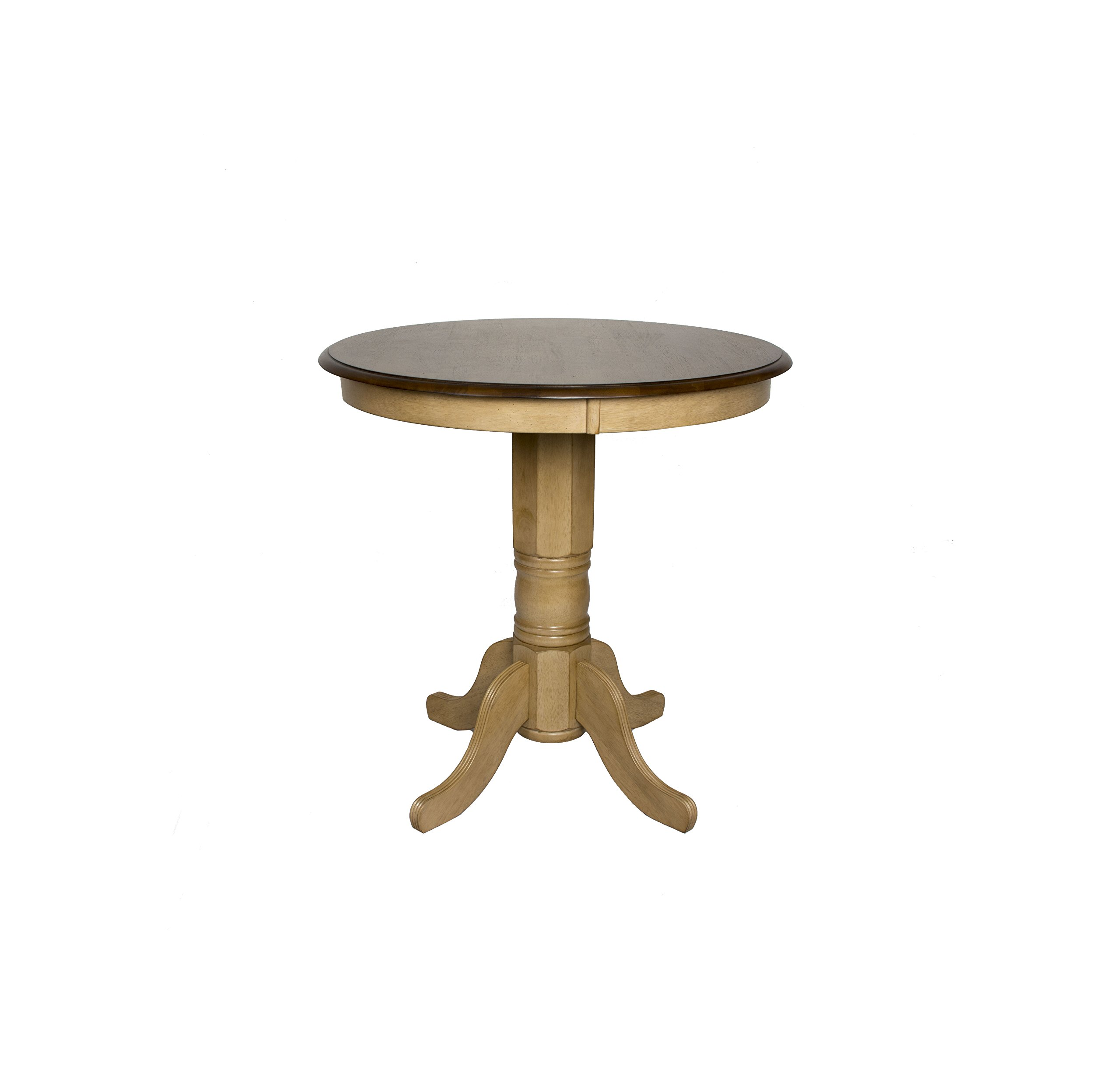 Sunset Trading Brook Round Pub Pedestal Table by Sunset Trading