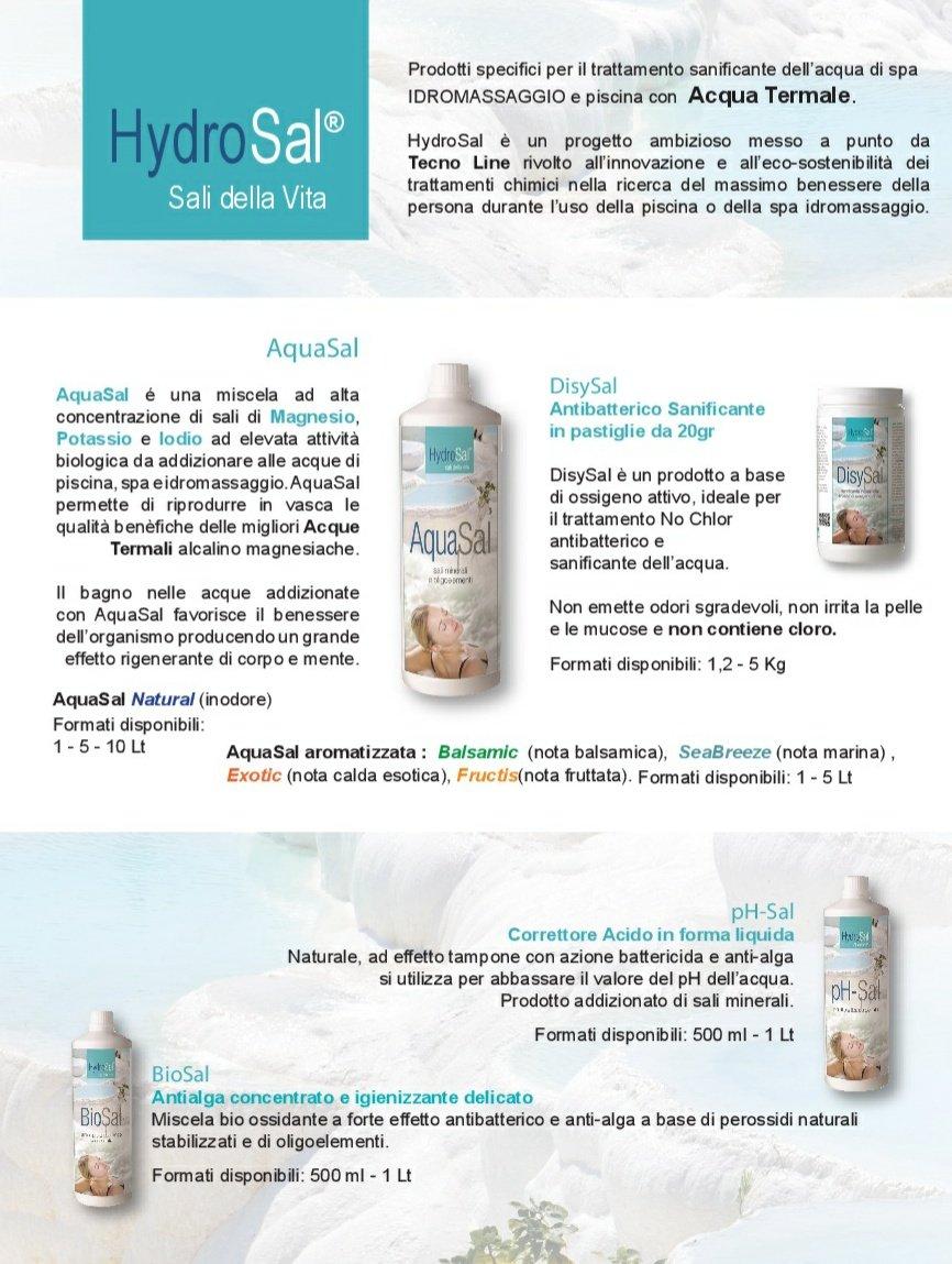 Reductor del PH enriquecido con sales minerales (Magnesio, Potasio, yodo) para tratamiento termal - pH-sal de 1 litro + Dosificador graduado- ideal para Spa ...