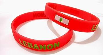 AccessCube Unisex País Bandera Nacional de Silicona Pulsera de Goma de Moda Pulsera Brazalete (Líbano): Amazon.es: Deportes y aire libre