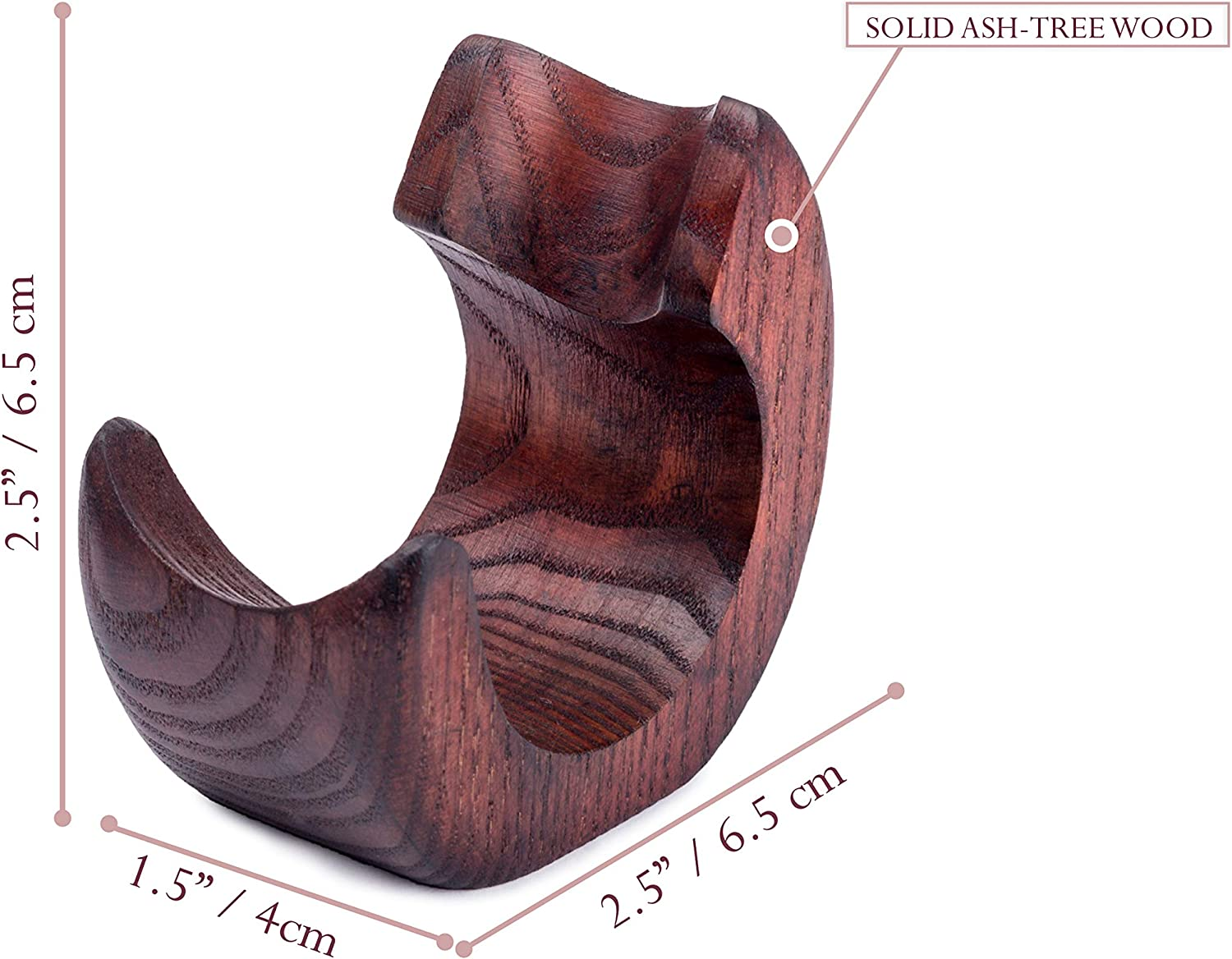 SNAIL Wooden Pipe Stand Display Top-table Rack Holder For 1 Tobacco Smoking Pipe Dr Watson
