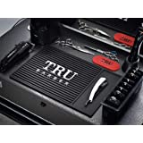 "TRU BARBER ORGANIZER MAT 13""X 9"" (BLACK/WHITE) Flexible PVC Station Mat, Professional Mat, Salon and Barbershop work…"