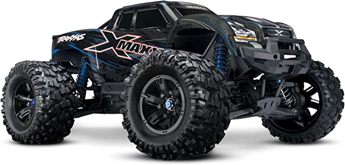 Amazon Com Traxxas 8s X Maxx 4wd Brushless Electric Monster Rtr Truck Blue Toys Games