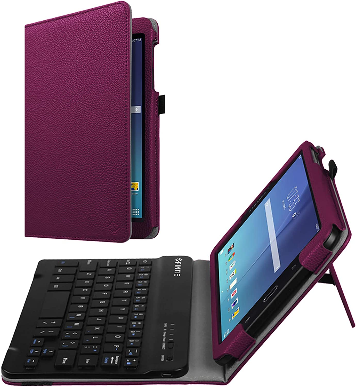Fintie Keyboard Case for Samsung Galaxy Tab E 8.0, Slim Fit Folio PU Leather Case with Detachable Magnetical Bluetooth Keyboard for Galaxy Tab E 32GB SM-T378/Tab E 8.0 SM-T375/T377, Purple