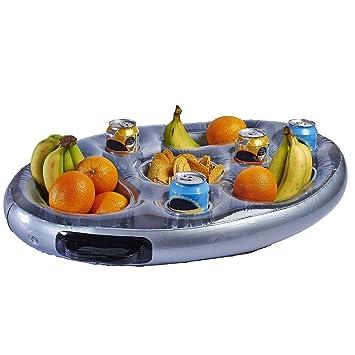 livivo® inflable flotante Piscina Spa Bar Hot Tub bandeja lateral para alimentos bebidas aperitivos fiesta: Amazon.es: Jardín