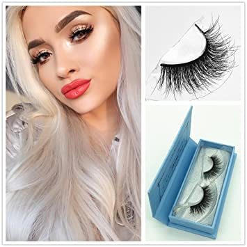 8c4018d8ccc Amazon.com : Miss Kiss 3D Mink Fur Eyelashes Hand-made False Stirp Reusable  Lashes 100% Siberian Fake Eye Lash For Makeup 1 Pair Package (3D18) : Beauty