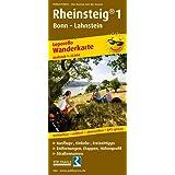Rheinsteig 1, Bonn - Lahnstein: Leporello Wanderkarte mit Ausflugszielen, Einkehr- & Freizeittipps, wetterfest, reissfest, abwischbar, GPS-genau. 1:25000 (Leporello Wanderkarte / LEP-WK)