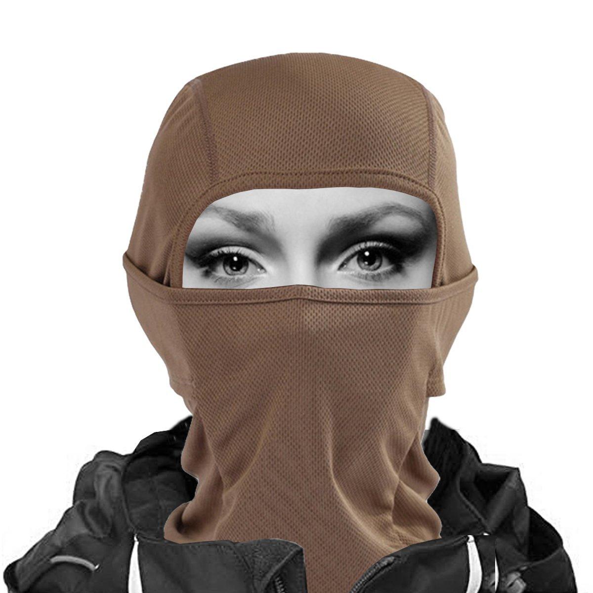 Walking Man Windproof 7in1 Balaclava Ski Face Mask - Pink XINGZHE